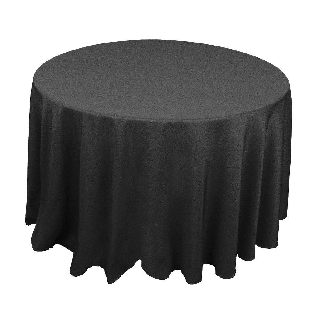 "132"" Round Polyester Tablecloth"