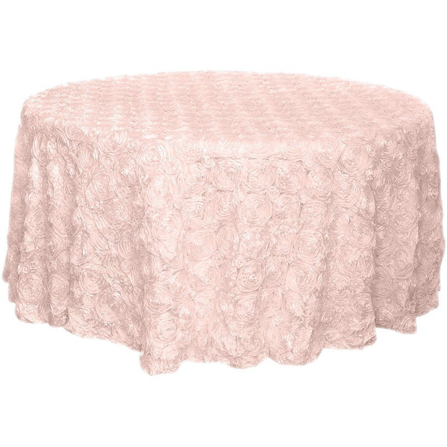 "120"" Ribbon Rosette Tablecloth - Wholesale Wedding Chair Covers l Wedding & Party Supplies"