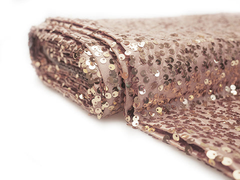 Sequin fabric bolt Blush (10 yards) - Wholesale Wedding Chair Covers l Wedding & Party Supplies