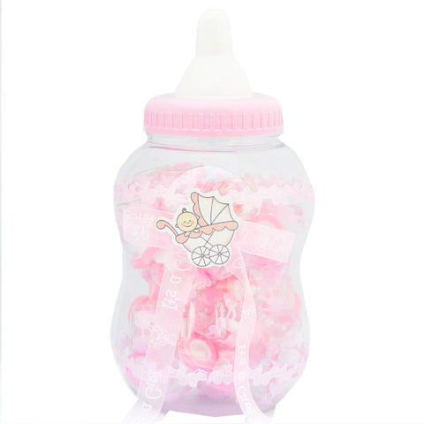 Baby bottle with mini bottles inside Pink - Wholesale Wedding Chair Covers l Wedding & Party Supplies