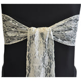 Ivory Vintage Lace Sash - Wholesale Wedding Chair Covers l Wedding & Party Supplies