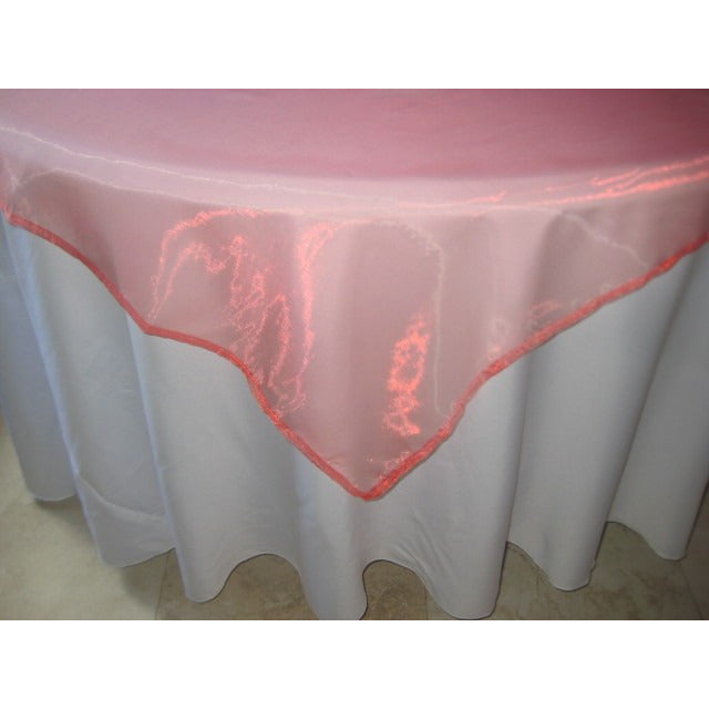 "Organza Overlay 90"" x 90"" (coral reef) - Wholesale Wedding Chair Covers l Wedding & Party Supplies"