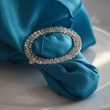 Double RhineStone Buckle Holder/ Napkin Silver - Wholesale Wedding Chair Covers l Wedding & Party Supplies