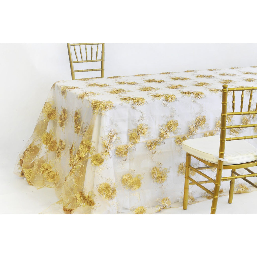 "90"" x 132"" Sunflower tablecloth - Wholesale Wedding Chair Covers l Wedding & Party Supplies"