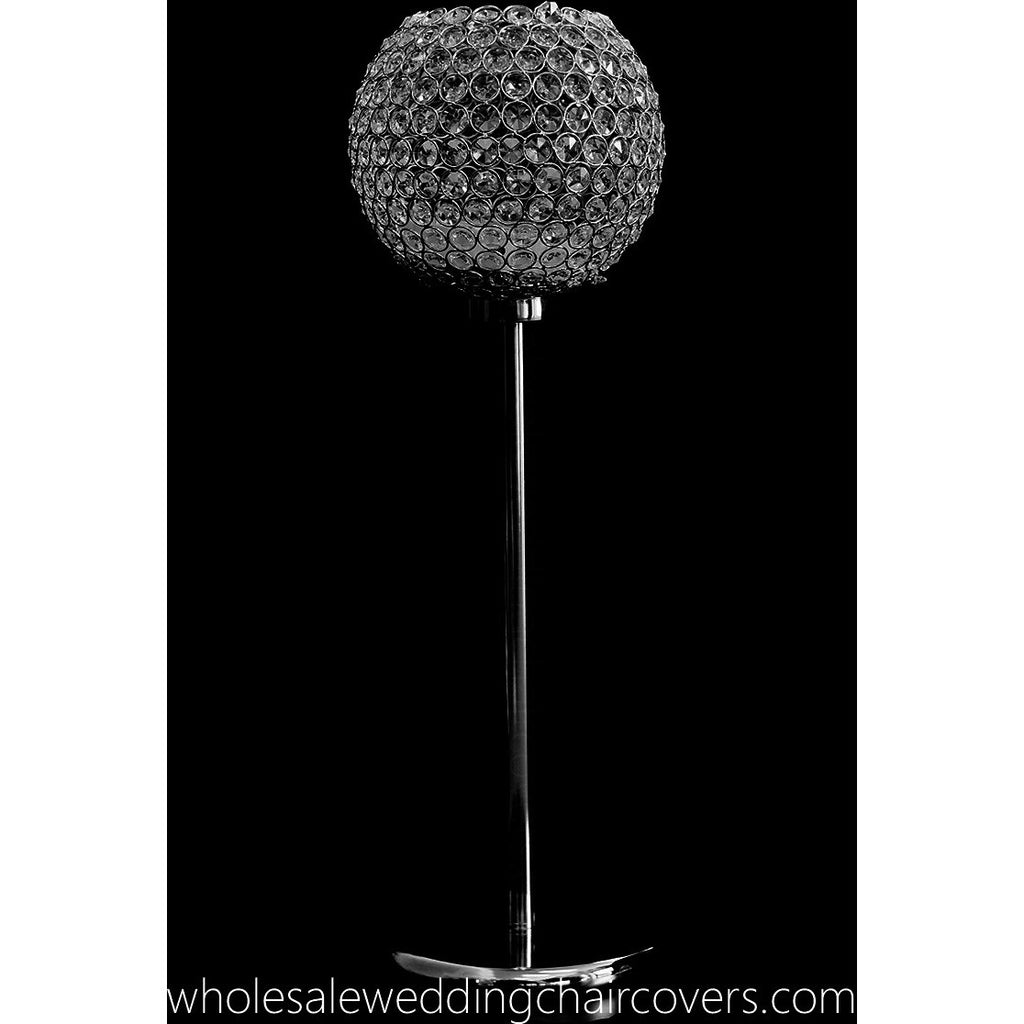 Set of 2 Large crystal globes - Wholesale Wedding Chair Covers l Wedding & Party Supplies