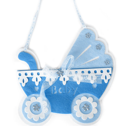 Felt baby stroller ornament - Wholesale Wedding Chair Covers l Wedding & Party Supplies