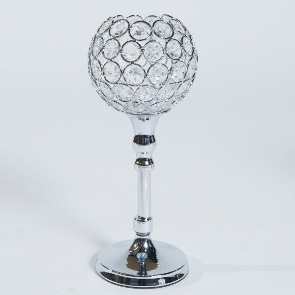 Crystal ball candle holder - Wholesale Wedding Chair Covers l Wedding & Party Supplies
