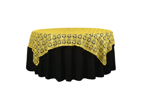 "72"" x 72"" Chemical Lace Overlay - Wholesale Wedding Chair Covers l Wedding & Party Supplies"