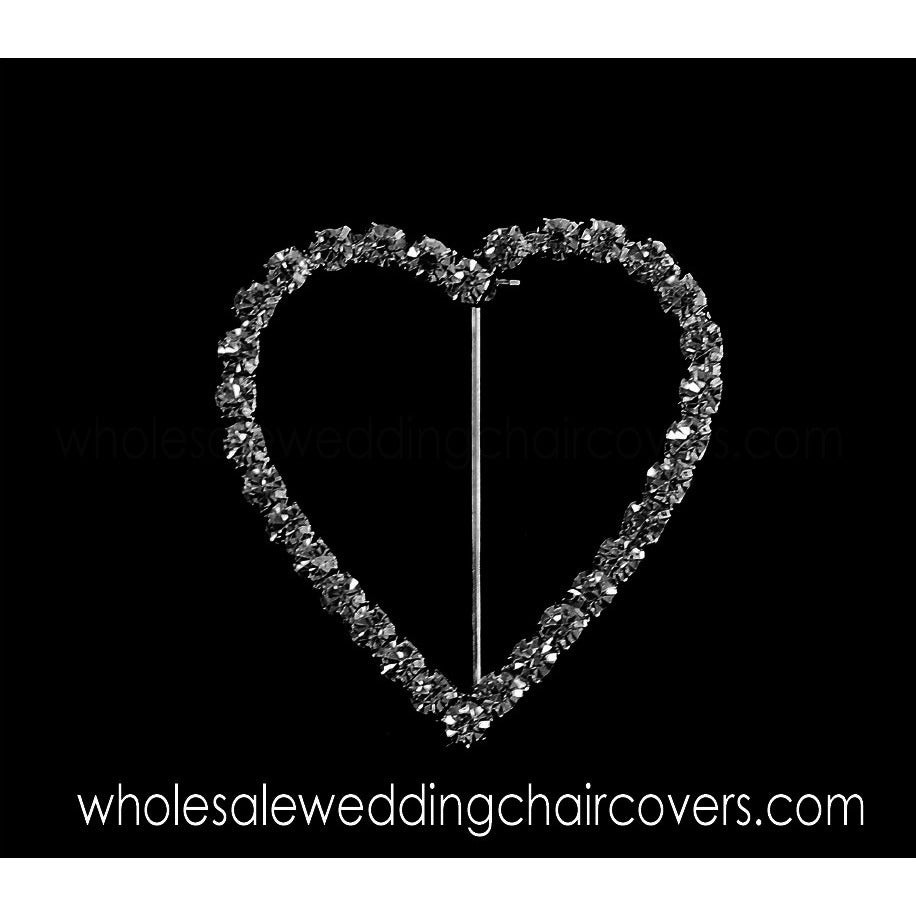Heart shaped rhinestone napkin/sash holder (disabled) - Wholesale Wedding Chair Covers l Wedding & Party Supplies