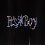 It's A Girl/Boy Rhinestone Cake Topper - Wholesale Wedding Chair Covers l Wedding & Party Supplies