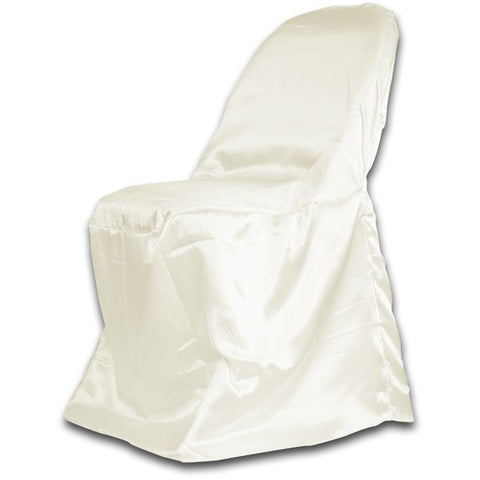 Satin Folding Chair Cover - Wholesale Wedding Chair Covers l Wedding & Party Supplies