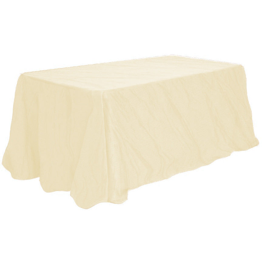 "90"" x 156"" Rectangular Crushed Taffeta Tablecloth - Wholesale Wedding Chair Covers l Wedding & Party Supplies"