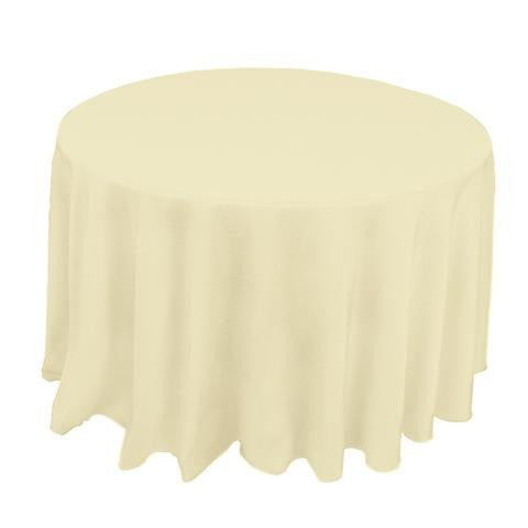 "132"" Round Polyester Tablecloth - Wholesale Wedding Chair Covers l Wedding & Party Supplies"