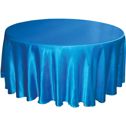 "132"" Round Satin Tablecloth - Malibu - Wholesale Wedding Chair Covers l Wedding & Party Supplies"