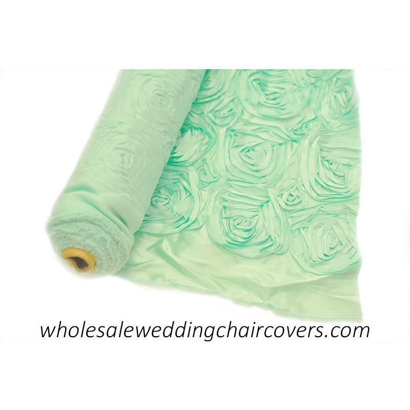 Ribbon rose fabric roll (10 yards) - Wholesale Wedding Chair Covers l Wedding & Party Supplies