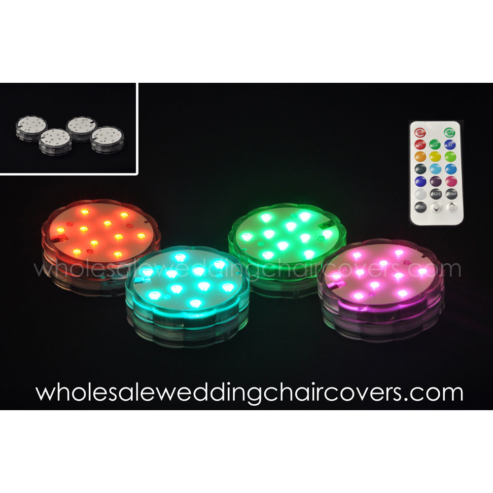 Multi Color submersible LED light base - Wholesale Wedding Chair Covers l Wedding & Party Supplies
