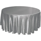 "120"" round satin tablecloth"