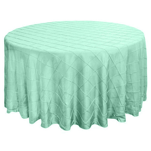 "120"" Round Pintuck Tablecloth - Wholesale Wedding Chair Covers l Wedding & Party Supplies"