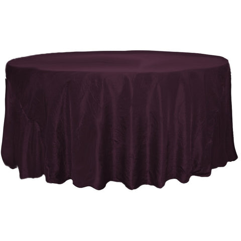 132 round crushed taffeta tablecloth specialty tablecloths 132 round crushed taffeta tablecloth wholesale wedding chair covers l wedding party supplies solutioingenieria Choice Image