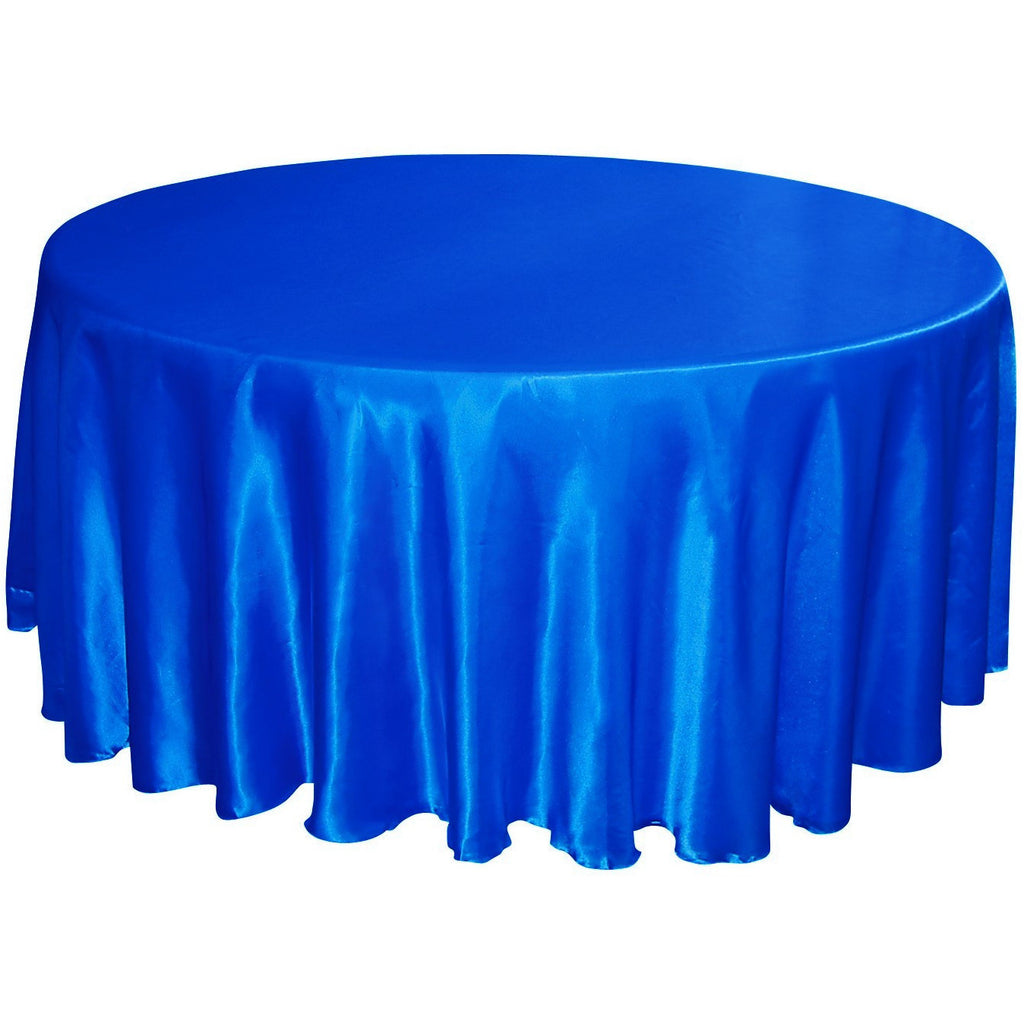 "108"" round satin tablecloth - Wholesale Wedding Chair Covers l Wedding & Party Supplies"