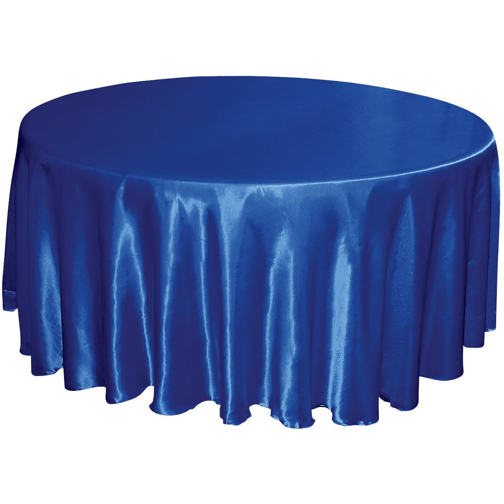 "120"" Round Satin Tablecloth - Wholesale Wedding Chair Covers l Wedding & Party Supplies"