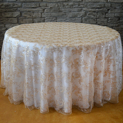 Round tablecloths wedding and party supplies orlando wedding 120 round sequins floral tablecloth wholesale wedding chair covers l wedding party supplies solutioingenieria Choice Image
