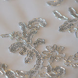 Sequins floral overlay - Wholesale Wedding Chair Covers l Wedding & Party Supplies