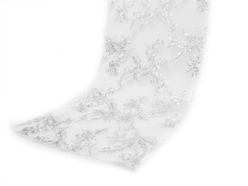 Sequins Floral Runner - Wholesale Wedding Chair Covers l Wedding & Party Supplies