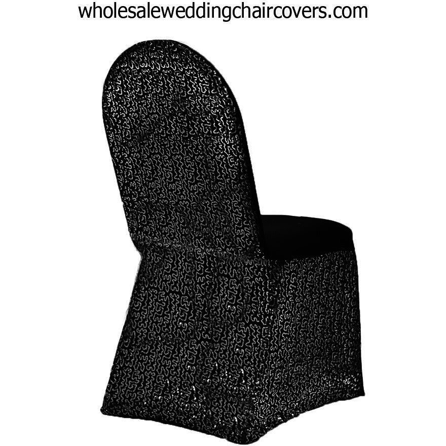 Sequins Sparkle Spandex Banquet Chair Cover - Wholesale Wedding Chair Covers l Wedding & Party Supplies