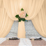 Sheer Draping Panel (Peach) - Wholesale Wedding Chair Covers l Wedding & Party Supplies