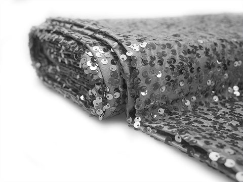 Sequin fabric bolt Silver (10 yards) - Wholesale Wedding Chair Covers l Wedding & Party Supplies