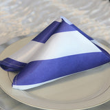 Stripe satin napkins (Pack of 10) - Wholesale Wedding Chair Covers l Wedding & Party Supplies