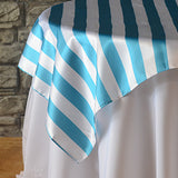 "72"" x 72"" Striped Overlays - Wholesale Wedding Chair Covers l Wedding & Party Supplies"