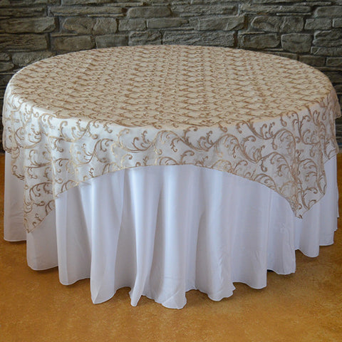 Swirl mesh overlay - Wholesale Wedding Chair Covers l Wedding & Party Supplies