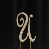 Gold Rhinestone Cake Toppers - Wholesale Wedding Chair Covers l Wedding & Party Supplies