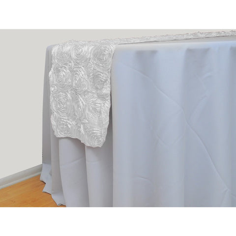 Ribbon rose table runner - Wholesale Wedding Chair Covers l Wedding & Party Supplies