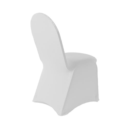 white spandex chair cover