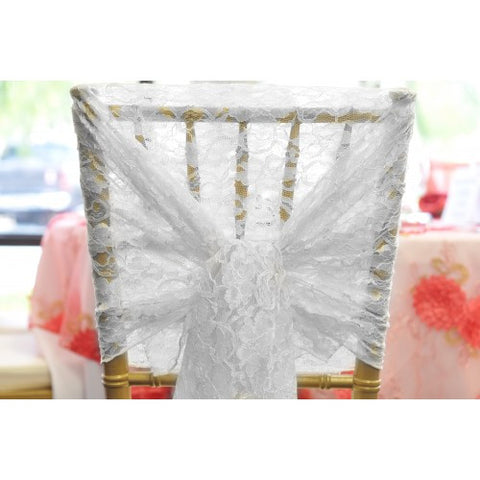 vintage lace hood White (10 Pack) - Wholesale Wedding Chair Covers l Wedding & Party Supplies