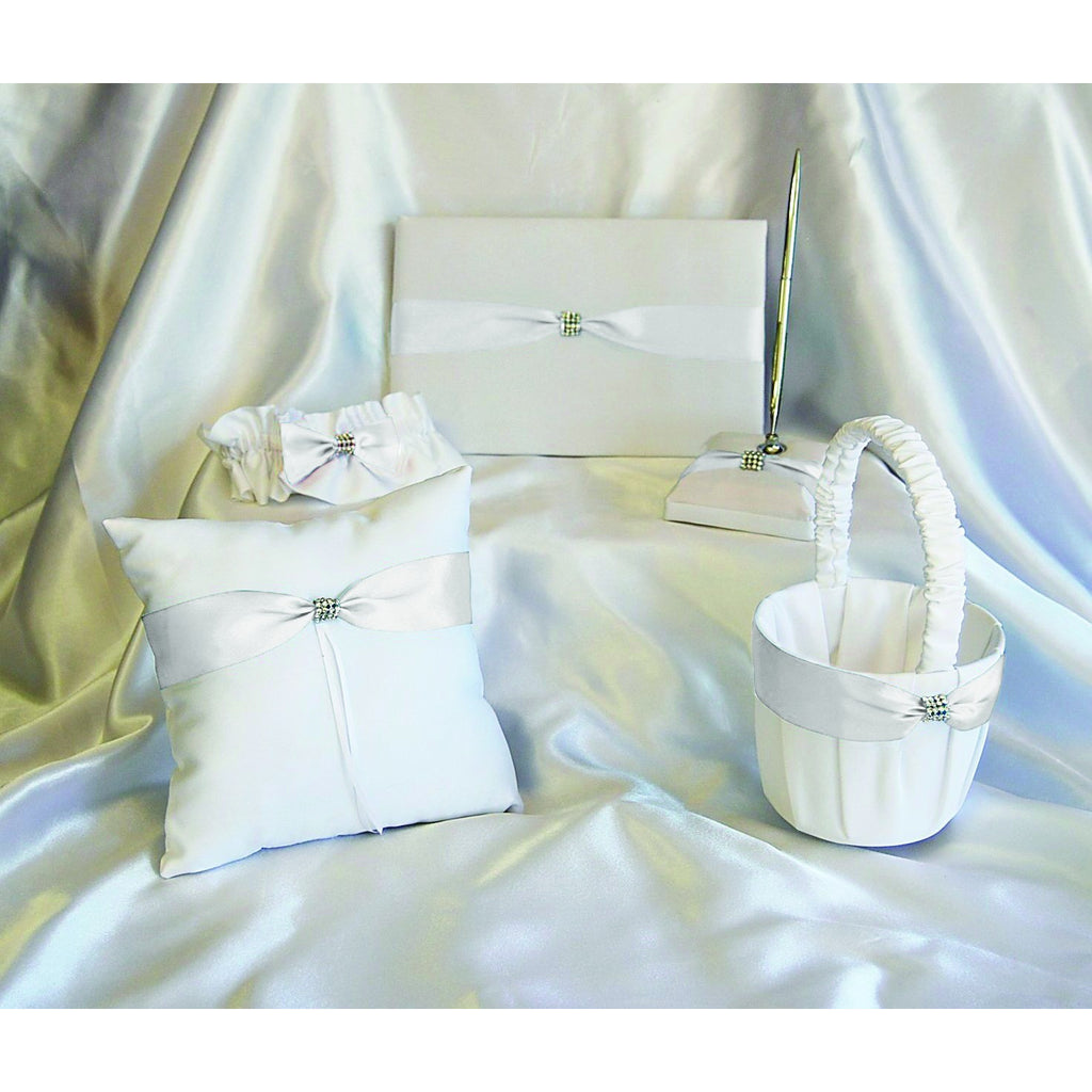 Wedding Book Ring Pillow Set