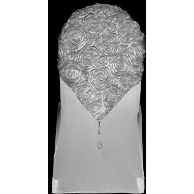Banquet Ribbon Rosette Chair Cap Wholesale Wedding Chair
