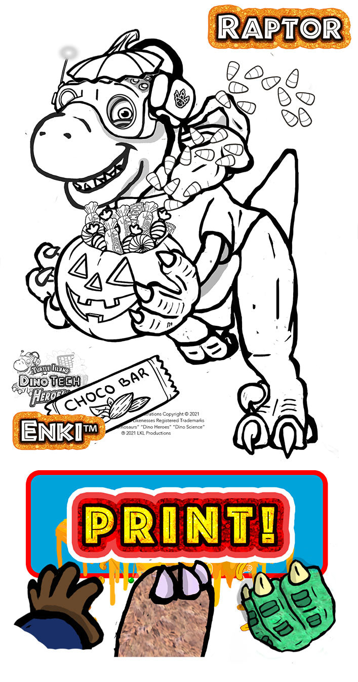 Halloween Coloring Pages - Raptor