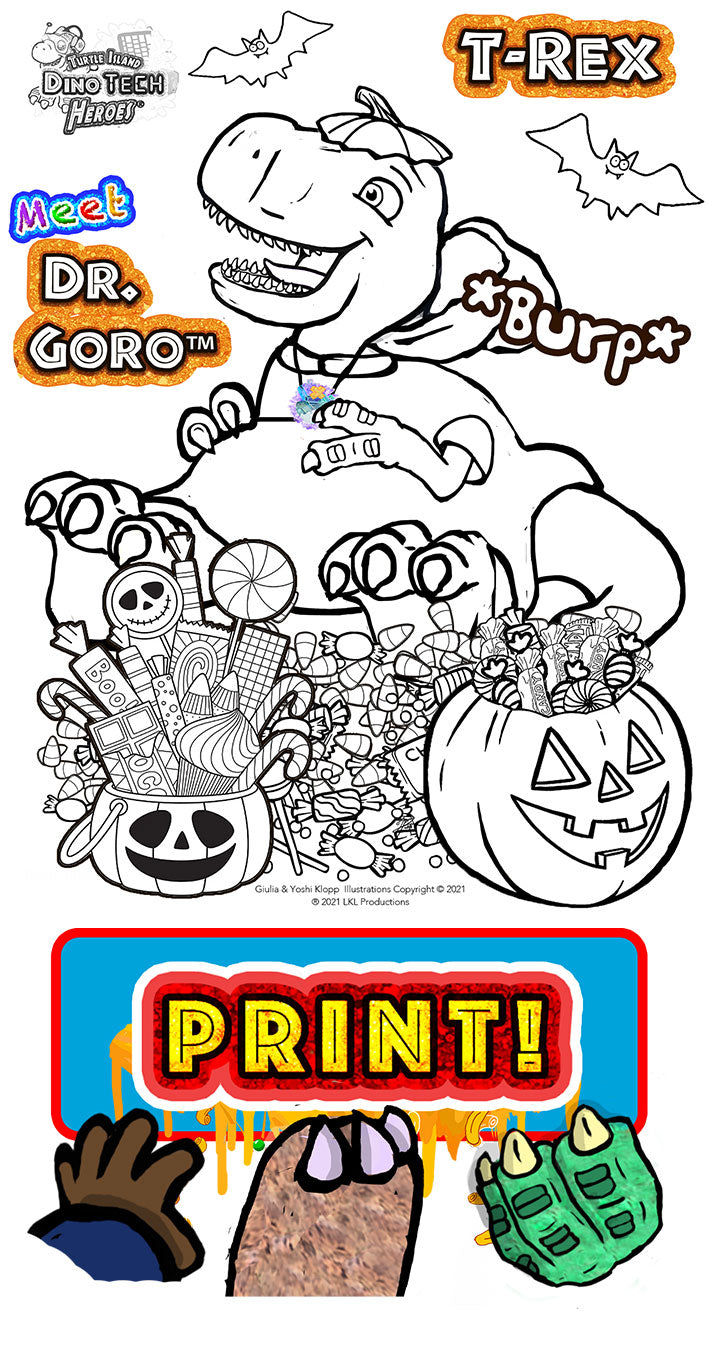 Halloween Coloring Pages - T rex