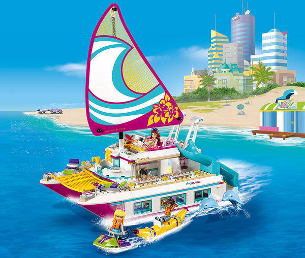 Display Shot into the ocean - Friends Sunshine Catamaran - Building Blocks Compatible with Lego®