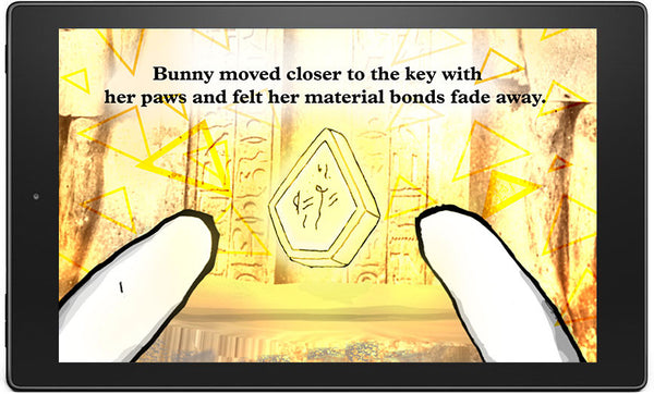 Bunny Buddha Pyramid Path Gold key Mobile Phone Tablet