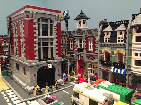 City Shot - Ghostbusters Firehouse Headquarters - Building Blocks Compatible With Lego®
