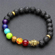 Load image into Gallery viewer, ⛩  Gold Buddha Prayer Bead Bracelet 🌸 - Bunny Buddha