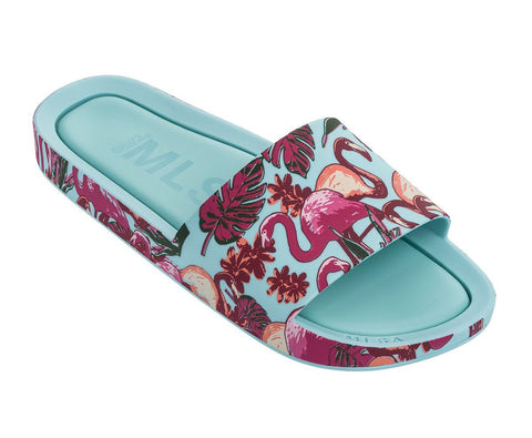 Mel Beach Slide Flamingo Sandal, Kids by MINI MELISSA - Bunny Buddha