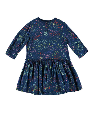 Long-Sleeve Multicolored Star Dress by STELLA MCCARTNEY KIDS - Bunny Buddha