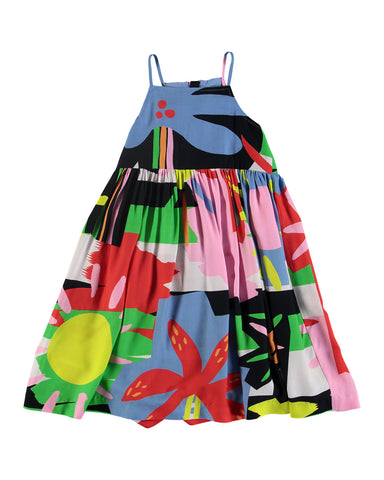 Sleeveless Abstract Palm Print Dress by STELLA MCCARTNEY KIDS - Bunny Buddha