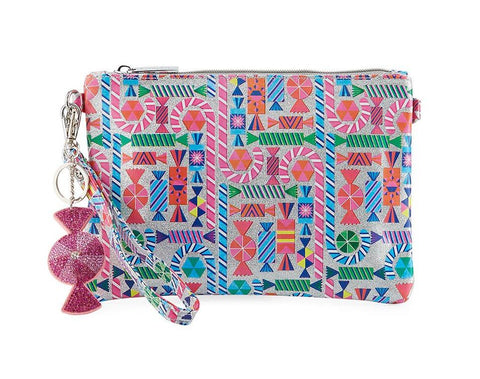 Girls' Shimmer Candy-Print Clutch Bag by BARI LYNN - Bunny Buddha